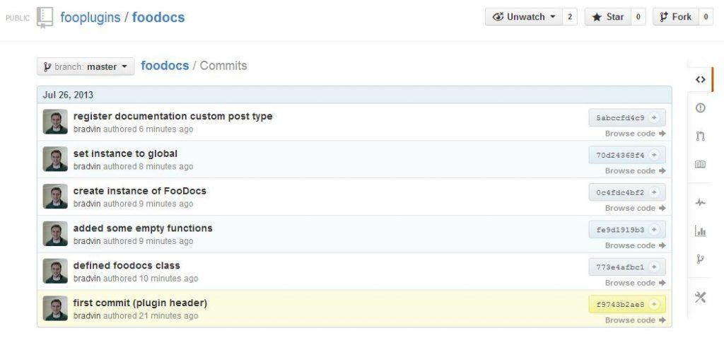 FooCamp: Git commits