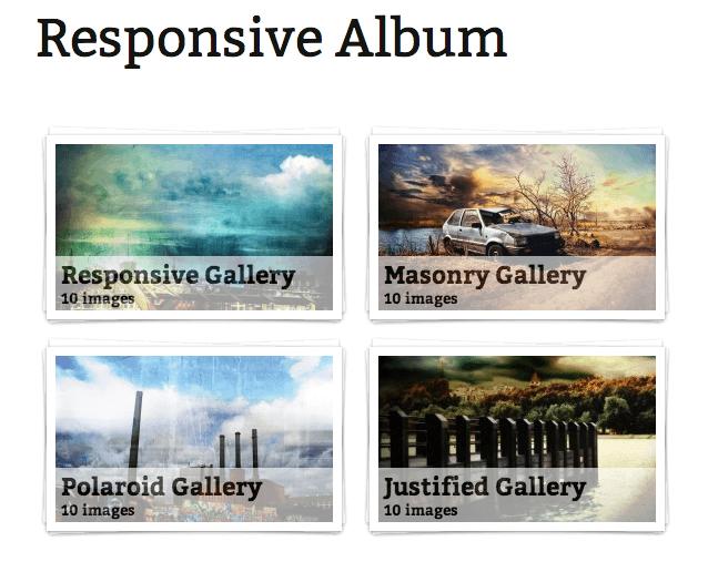 Responsive FooGallery Album Template