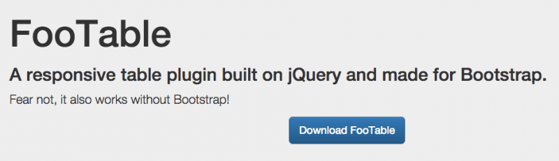 FooTable jQuery Plugin Version 3 Released – Even More Awesome Responsive Data Tables