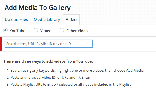 276d0dce19 Step 3 – Use the YouTube search field to import the entire playlist to your  gallery
