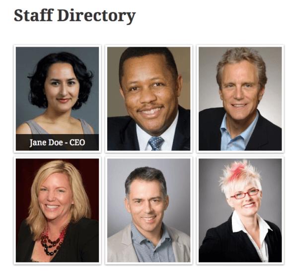 Create a Staff Listing in WordPress