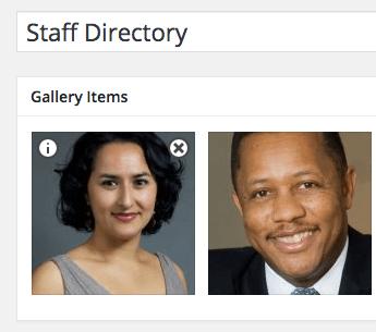 Staff listing image edit icon in WordPress
