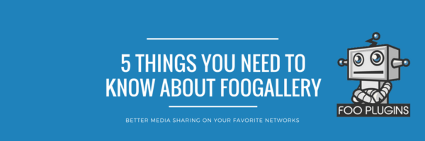 5 Things you Need to Know about FooGallery