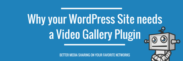 have a video marketing strategy and use a Video Gallery plugin for WordPress site