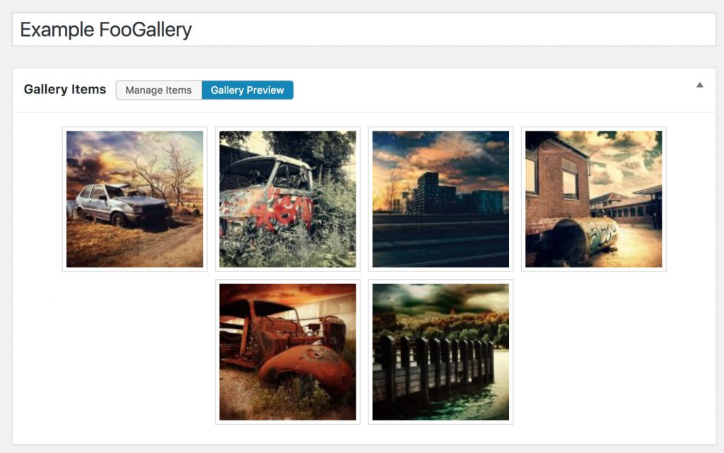 Instant Gallery Previews