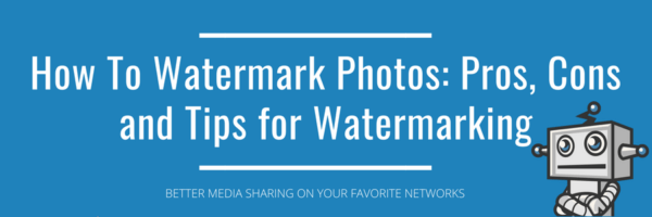 Watermark photos: pros, cons and tips