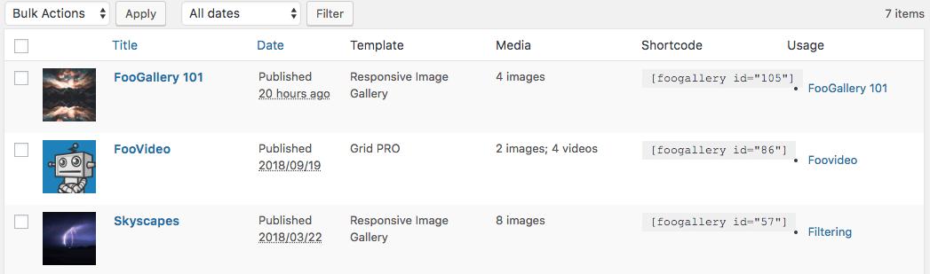 edit galleries