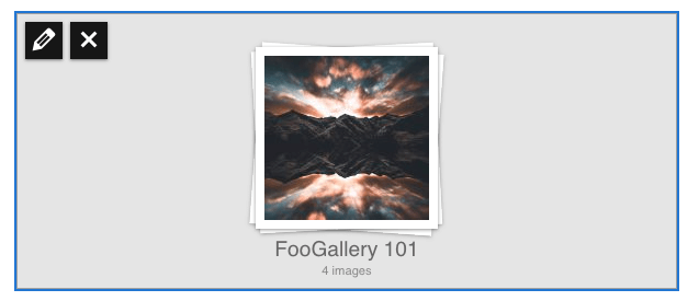 Edit gallery from page