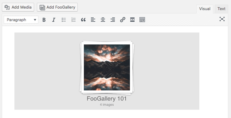 Gallery in post or page