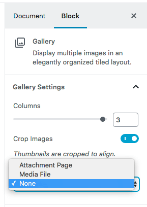 Link to media file to enable FooBox in a gallery