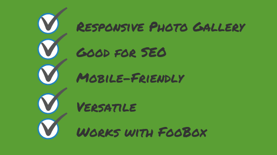 FooGallery is a responsive photo gallery