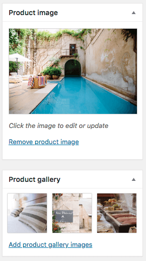 Add product images in WooCommerce