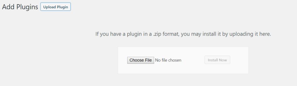 Upload plugin in .zip format