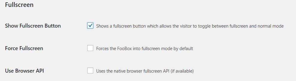 Enable FooBox to open in a fullscreen