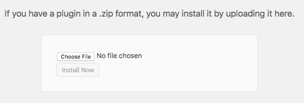 Upload FooGallery .zip file to WordPress