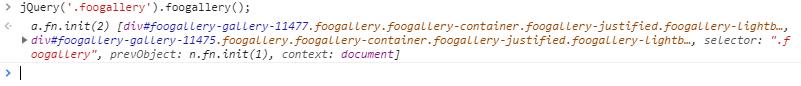 Test FooGallery In Dev Tools