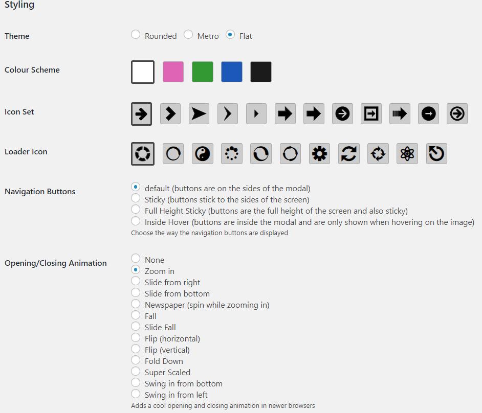 FooBox Pro customization options