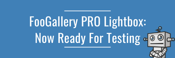 FooGallery PRO Lightbox: Ready For Testing