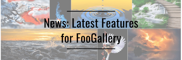 News: Latest Features for FooGallery