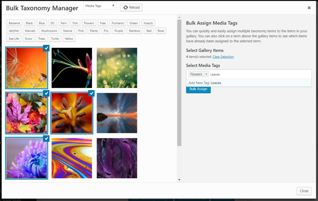 Bulk Assign tags to images