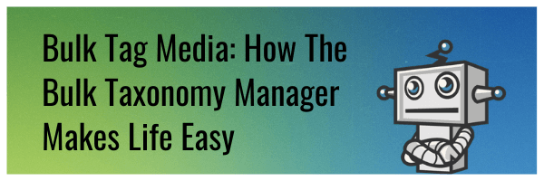 Bulk Tag Media: 5 Ways Our Bulk Taxonomy Manager Will Make Your Life Easy