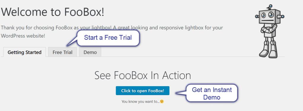 FooBox update - Getting started