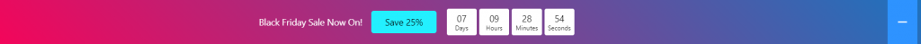 Countdown notification bar