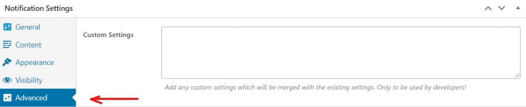 Advanced custom settings in FooBar update
