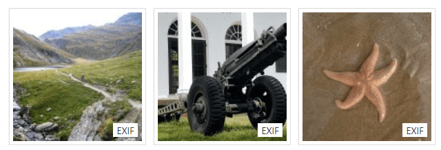 EXIF Data on thumbs