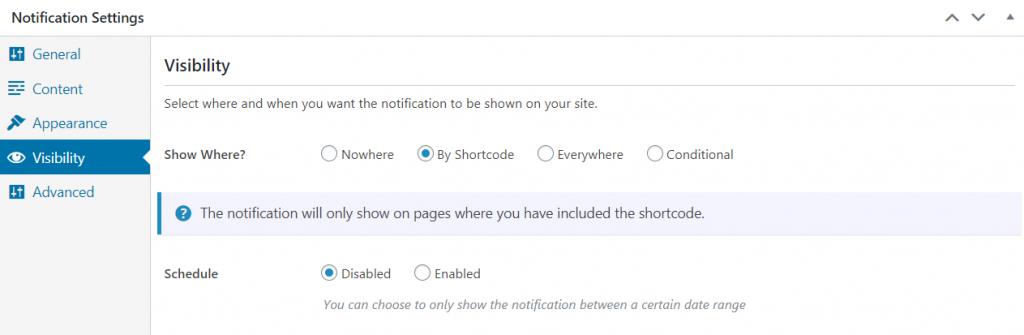 FooBar pro visibility settings