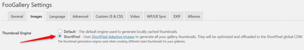 Shortpixel Adaptive Images as thumbnail engine