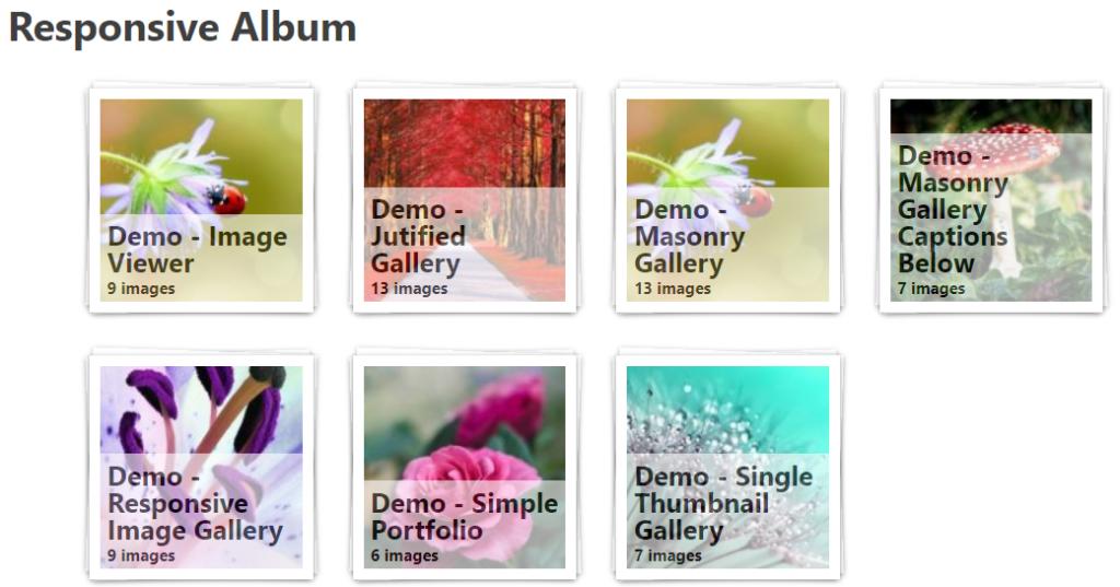 Responsive album layout in foogallery free