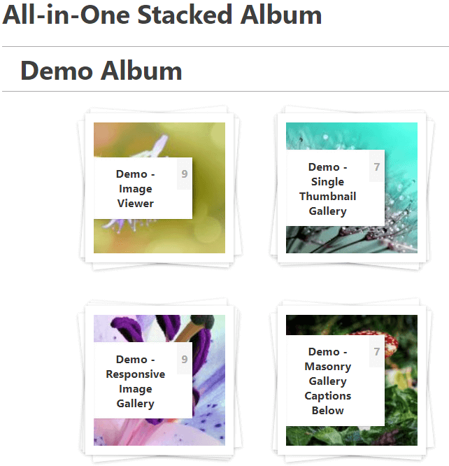 All-in-one Stacked Album demo