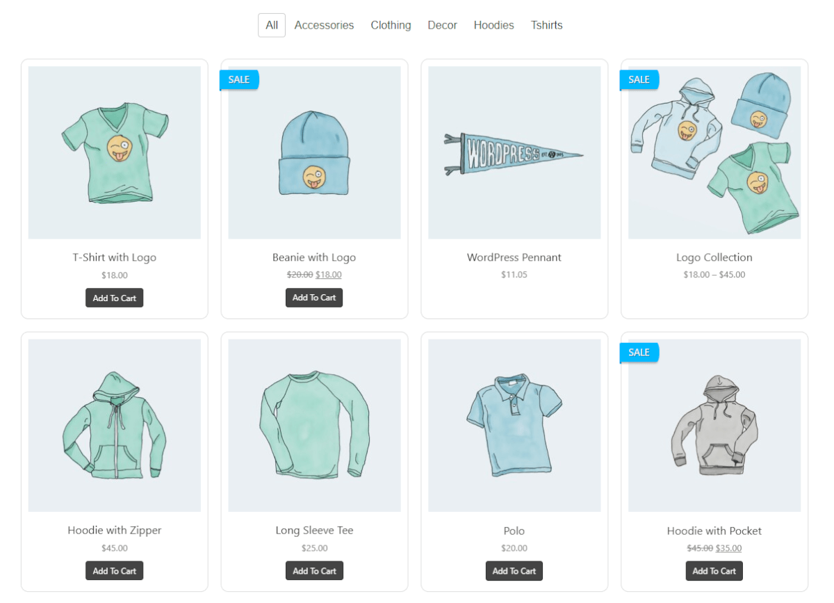 Product gallery layout for Pro Commerce