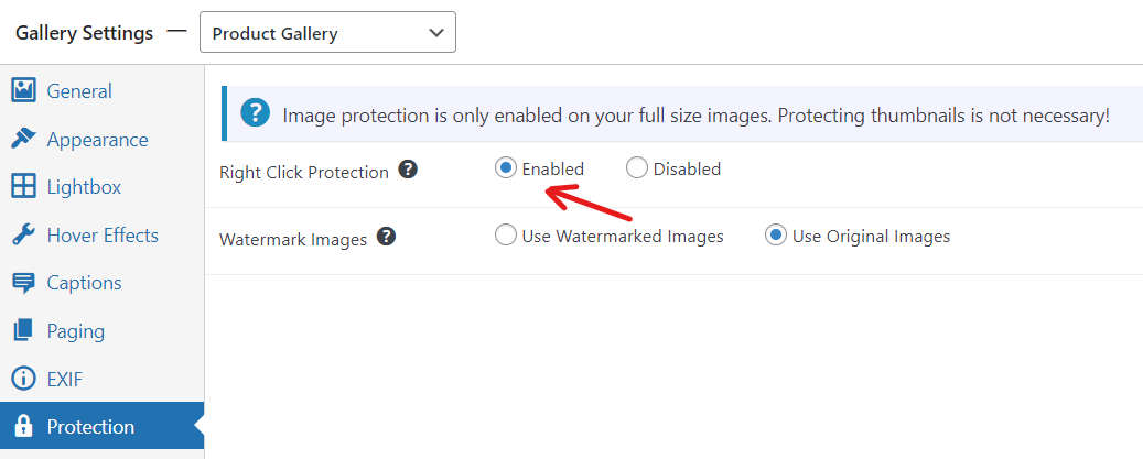 right click image protection and photo watermarking