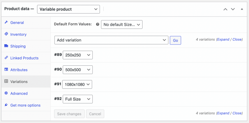 FooGallery WooCommerce Master Product - Setup Master Product : Variations