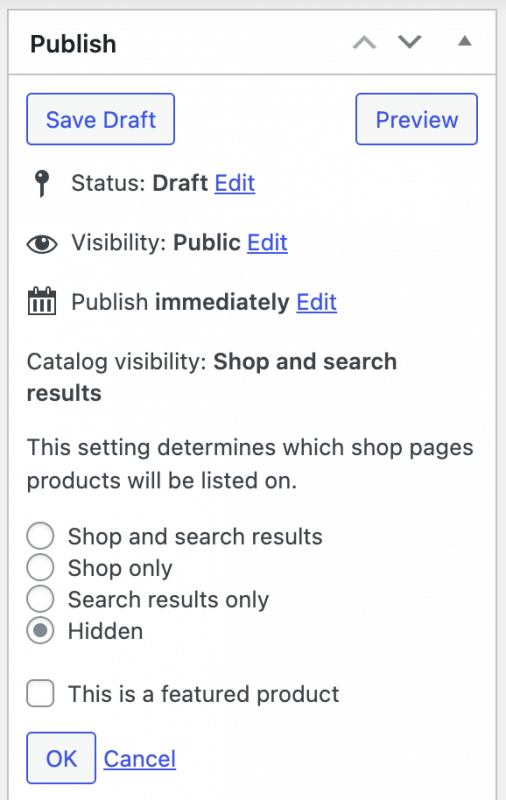 FooGallery WooCommerce Master Product - Setup Master Product : Visibility