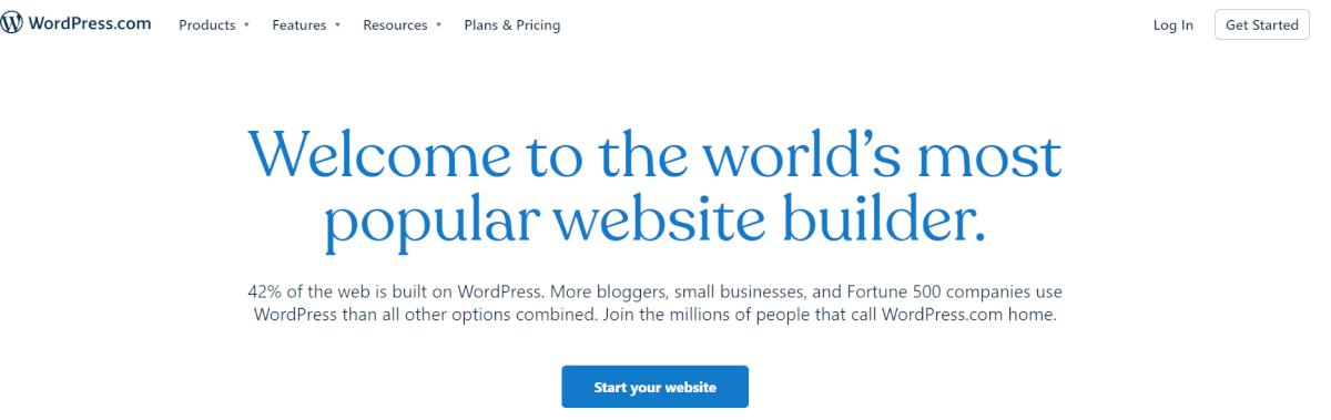WordPress.com offers a good platform for building an online store