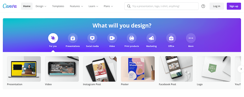 Canva is a free online design tool