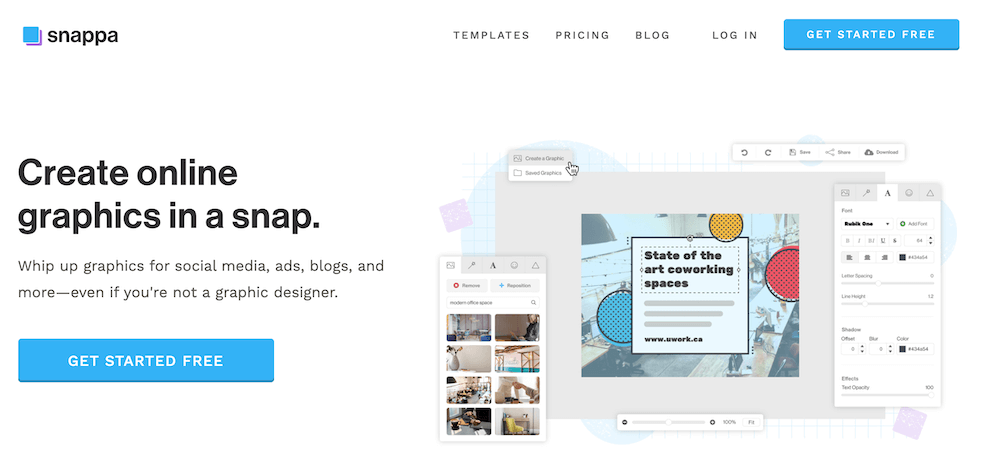 online design tools like snappa let you easily create graphics
